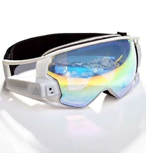 AR Ski goggles create slalom tracks to follow and video message in real time